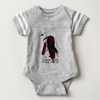crazy-horse feather baby bodysuit