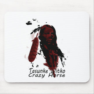 crazy-horse feather mouse pad