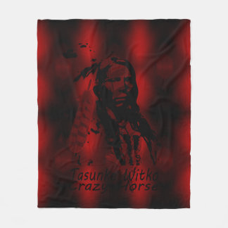 CRAZY HORSE Silhouette Fleece Blanket