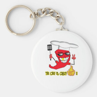 Crazy Hot Chef Key Ring