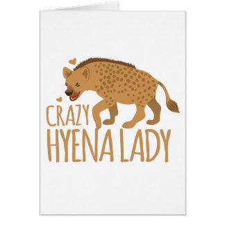 crazy hyena lady card