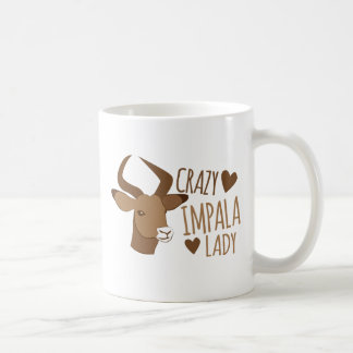 crazy impala lady coffee mug