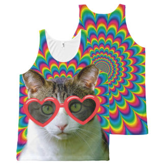 Crazy In Love Cat All-Over Print Tank Top