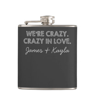 Crazy in Love Hip Flask