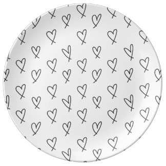 Crazy in love porcelain plates