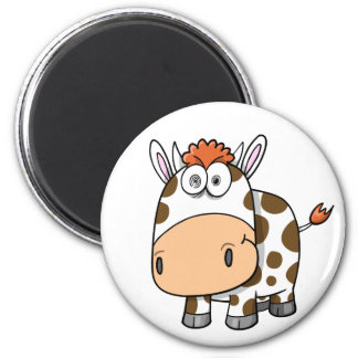 Crazy Insane Cow Magnet