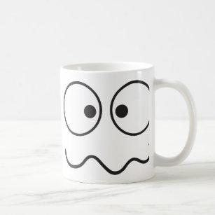 Crazy insane face cross eyed coffee mug