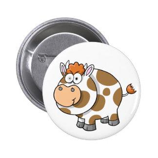 Crazy Insane Farm Cow Button