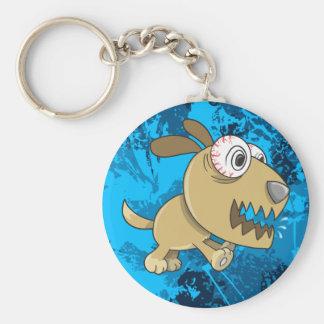 Crazy Insane Puppy Dog  Key Chain