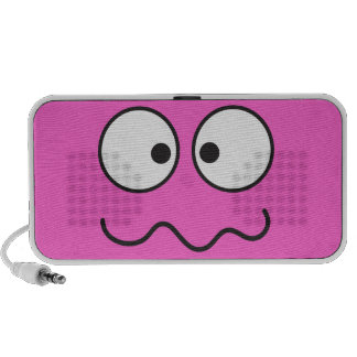 Crazy insane smiley face cross eyed laptop speakers