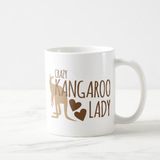 Crazy Kangaroo Lady Basic White Mug