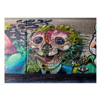 Crazy Kind Of Horror Skull Graffiti Pack Of Chubby Business Cards