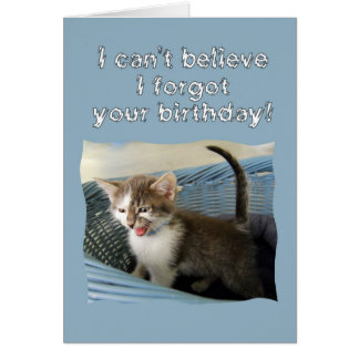 Crazy Kitten Belated Birthday Card