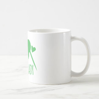 Crazy Kiwi Lady Basic White Mug