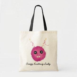 Crazy Knitting Lady Bolsa Para Compra