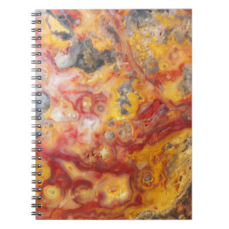 Crazy Lace Agate Pattern Notebook