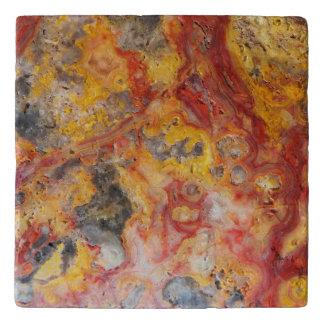 Crazy Lace Agate Pattern Stone Trivet