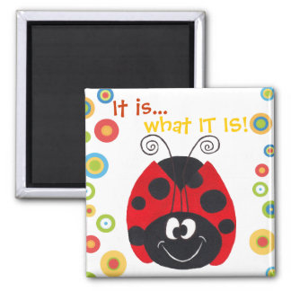 Crazy Ladybug - It is what IT IS - Fridge Magnet