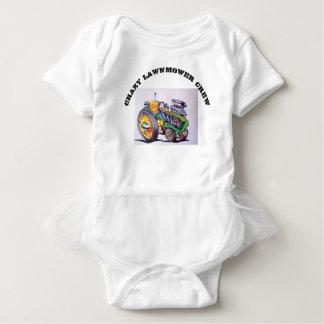 crazy_lawnmower_crew baby bodysuit