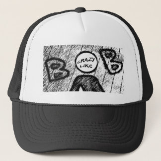 Crazy Like Bob Tee Trucker Hat