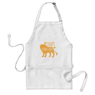 crazy lion lady standard apron