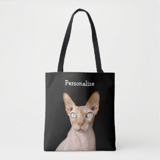 Crazy Looking but Cute Cat Personalized Bag