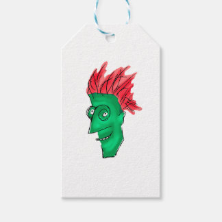 Crazy Man Drawing Gift Tags