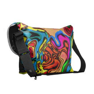 Crazy Melting Colors Design Messenger Bag