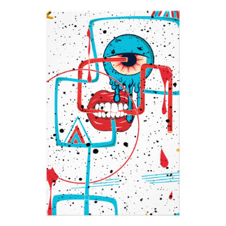 Crazy Monster Face Funny Customised Stationery