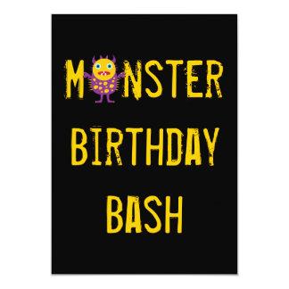 "Crazy Monsters Birthday Party Invitations 5"" X 7"" Invitation Card"