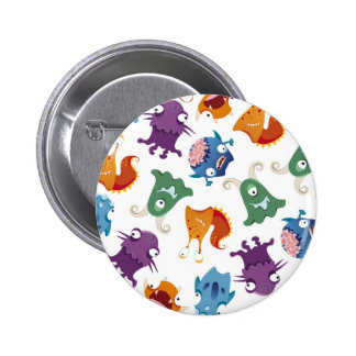 Crazy Monsters Fun Colorful Patterns for Kids 6 Cm Round Badge