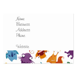 Crazy Monsters Fun Colorful Patterns for Kids Pack Of Chubby Business Cards