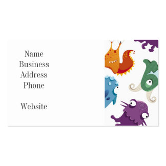 Crazy Monsters Fun Colorful Patterns for Kids Double-Sided Standard Business Cards (Pack Of 100)