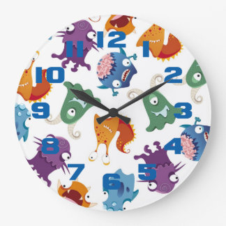 Crazy Monsters Fun Colorful Patterns for Kids Wallclock