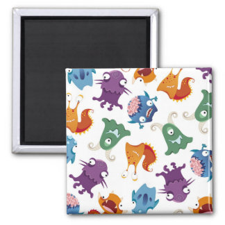 Crazy Monsters Fun Colorful Patterns for Kids Fridge Magnet