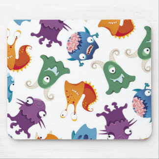 Crazy Monsters Fun Colorful Patterns for Kids Mousepads