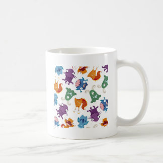 Crazy Monsters Fun Colorful Patterns for Kids Coffee Mug