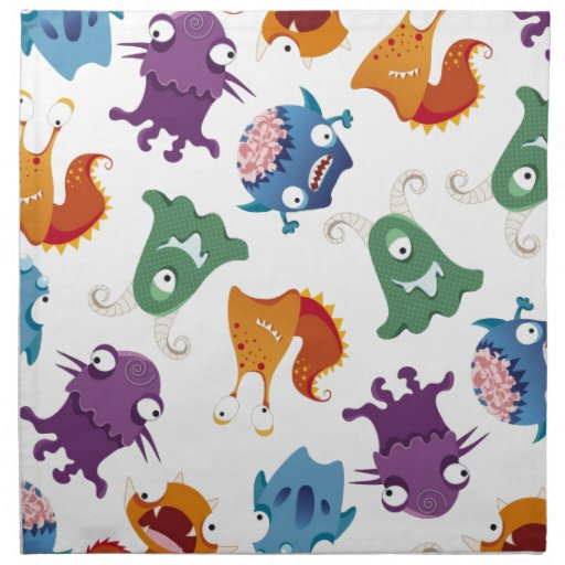 Crazy Monsters Fun Colorful Patterns for Kids Napkins