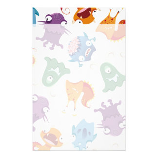 Crazy Monsters Fun Colorful Patterns for Kids Personalised Stationery
