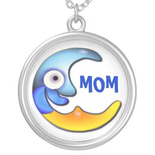 """Crazy Moon """"MOM"""" Necklace"""