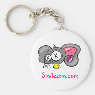 Crazy Mouse Head Design Basic Round Button Key Ring