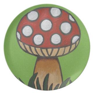 Crazy mushroom plate