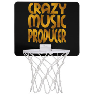 Crazy Music Producer in Gold Mini Basketball Hoop