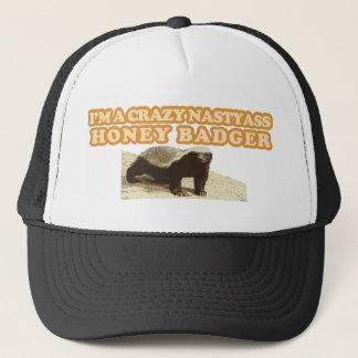 CRAZY NASTYASS HONEY BADGER TRUCKER HAT