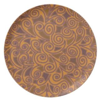 Crazy Orange Design Plate