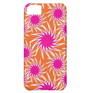 Crazy Orange Hot Pink Spinning iPhone 5C Case