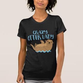 crazy otter lady cute! T-Shirt
