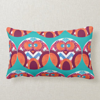 Crazy Owl Colorful Chevron Purple Orange Pink Blue Throw Cushions