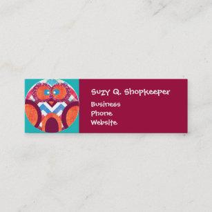 Crazy business cards zazzle au crazy owl colourful chevron purple orange pink mini business card colourmoves