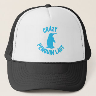 crazy penguin lady trucker hat